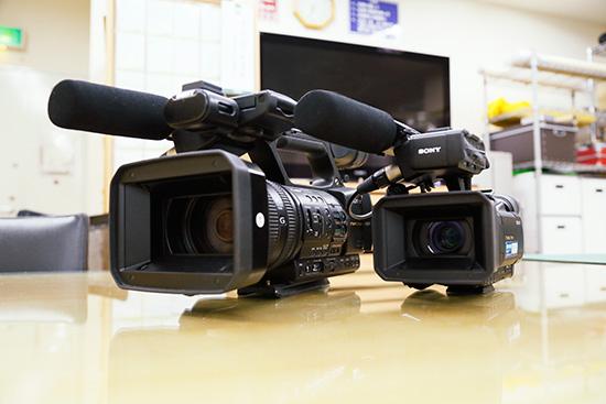 アトムの撮影用ビデオカメラ